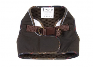 Barbour Wax Step In Dog Harness – Olive