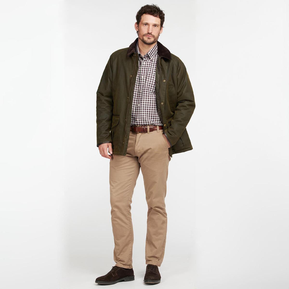 Barbour Stratford Wax Jacket – Olive