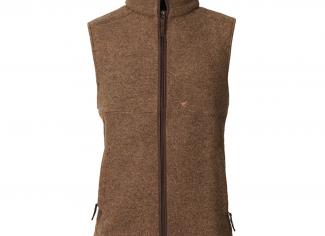 Laksen Isla Felted Wool Fleece Vest – Camel