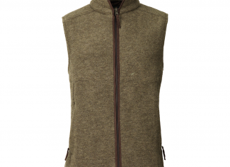 Laksen Isla Felted Wool Fleece Vest – Olive