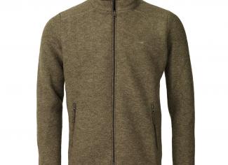 Laksen Hogsback Felted Wool Fleece Jacket – Olive