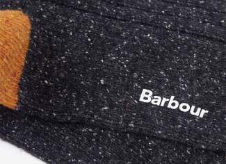 Barbour Houghton Stripe Socks – Olive/ Burnt Orange