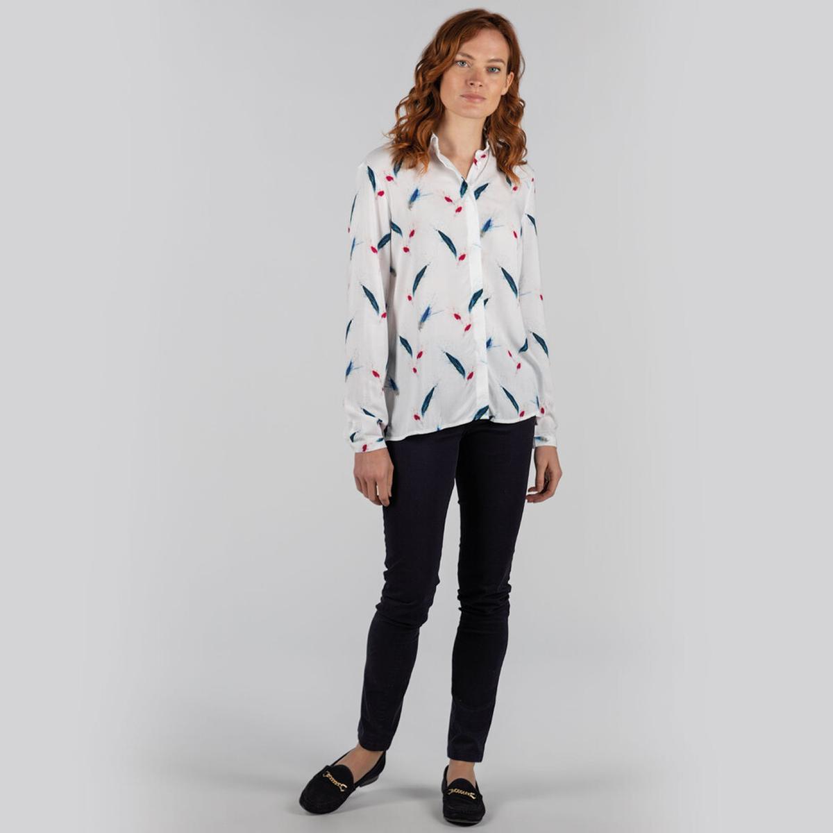 Schoffel Brownlow Shirt – Feather Print