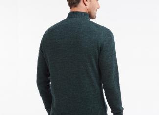 Barbour Essential Lambswool Half Zip Sweater – Seaweed Mix