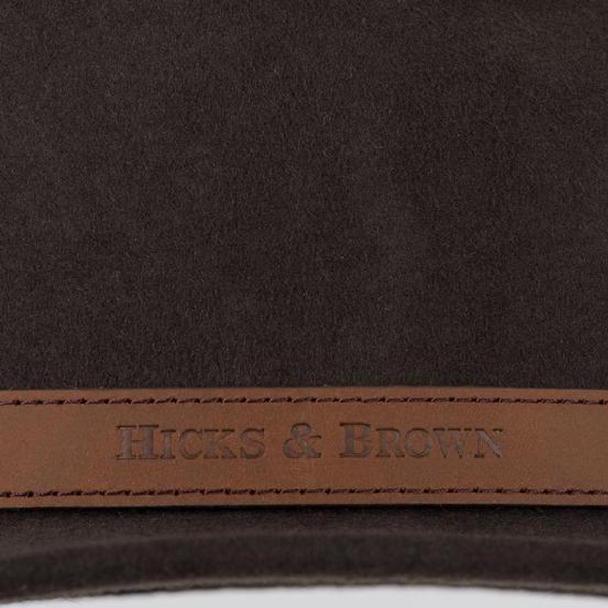 Hicks & Brown The Suffolk Fedora (Guinea & Pheasant Feather) – Dark Brown