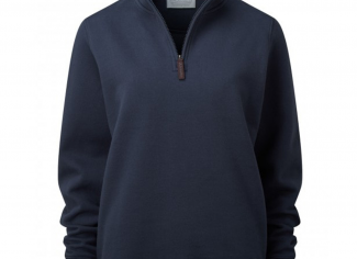 Schoffel Ladies 1/4 Zip Sweatshirt – Navy