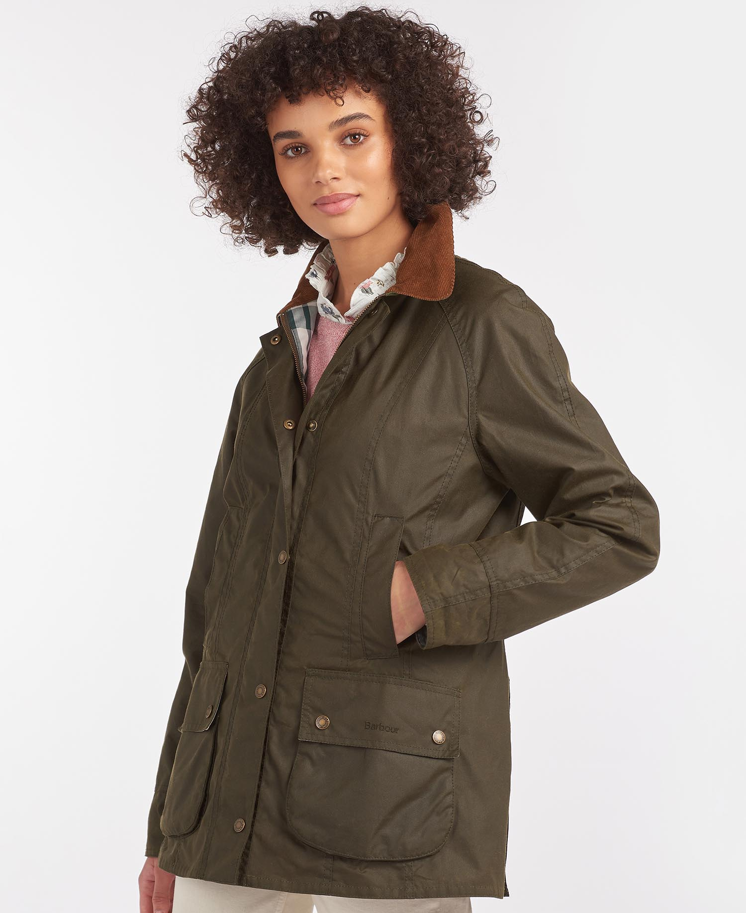 Barbour Aintree Waxed Cotton Jacket – Archive Olive