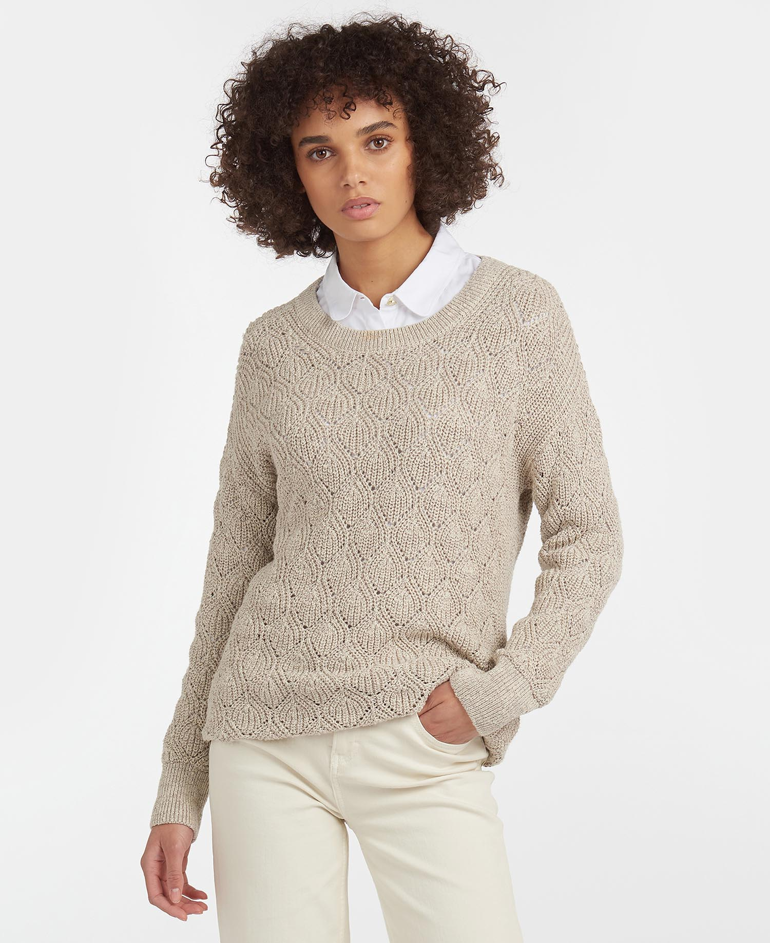Barbour Newbury Knit Sweater – Summer Pearl