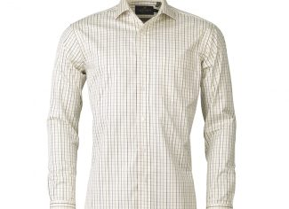 Laksen Robbie Two Ply Twill Sporting Check Shirt – Purple/Green/Navy