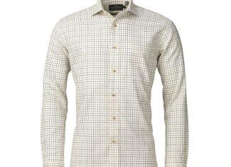 Laksen Denis Cotton Wool Sporting Checked Shirt – Purple/Navy/Green
