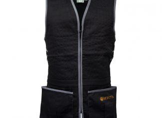 Beretta Trap Cotton Vest – Black/ Grey