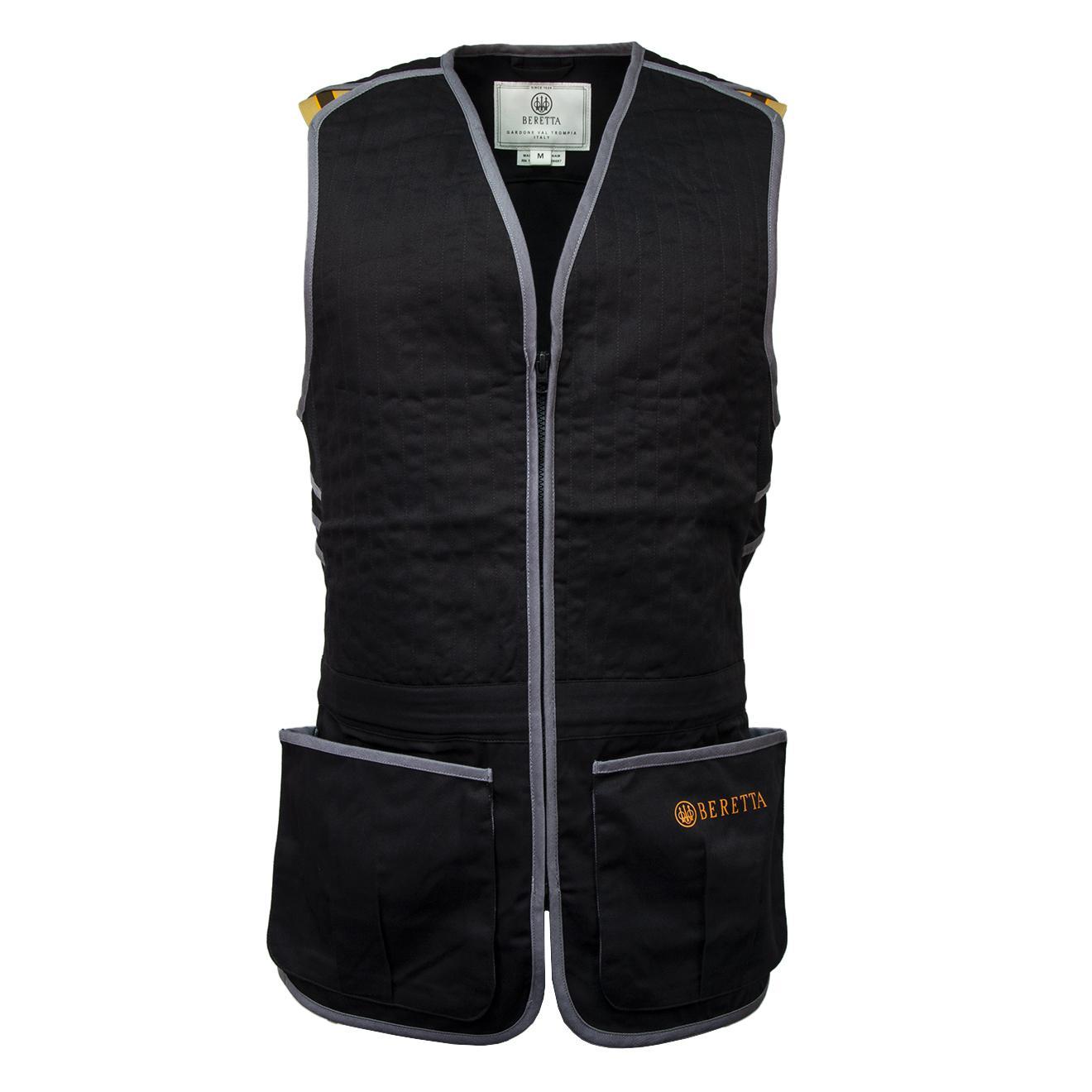 Beretta-Trap-Cotton-Shooting-Vest-Black-Grey-GT083T1553-10925-001