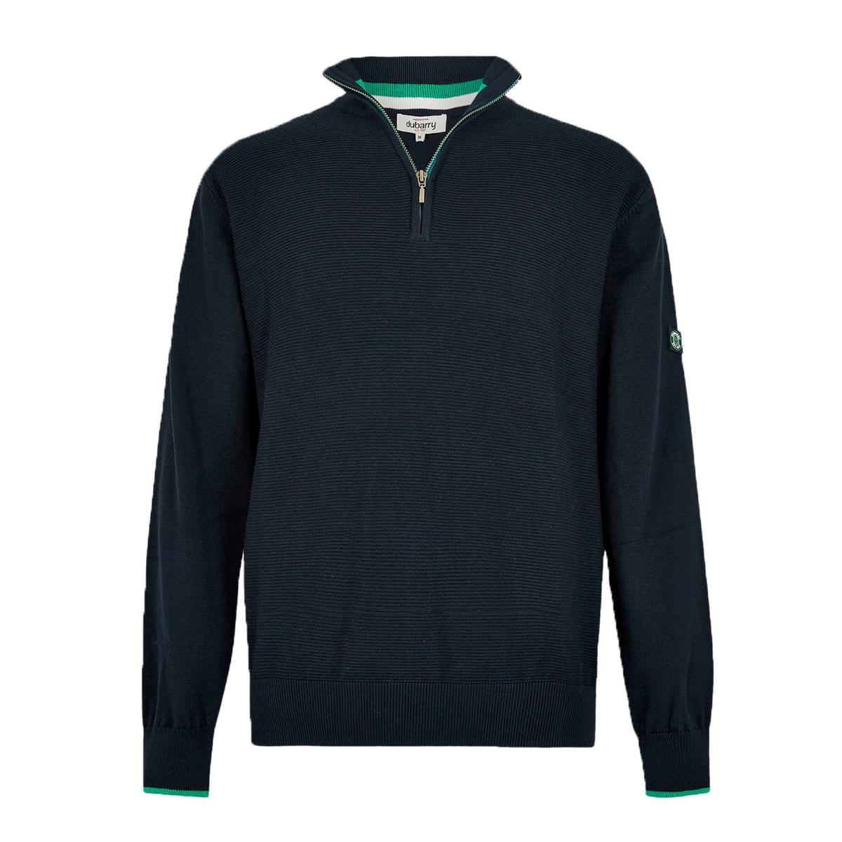 Dubarry-Brosna-Zip-Neck-Sweater–Navy