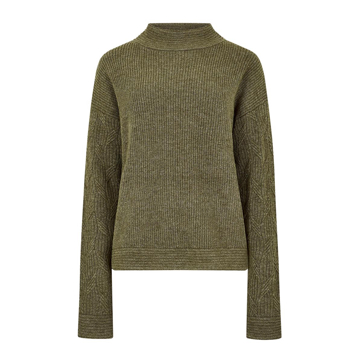 Dubarry-Byrne-Loose-Fit-Sweater-Dusky-Green