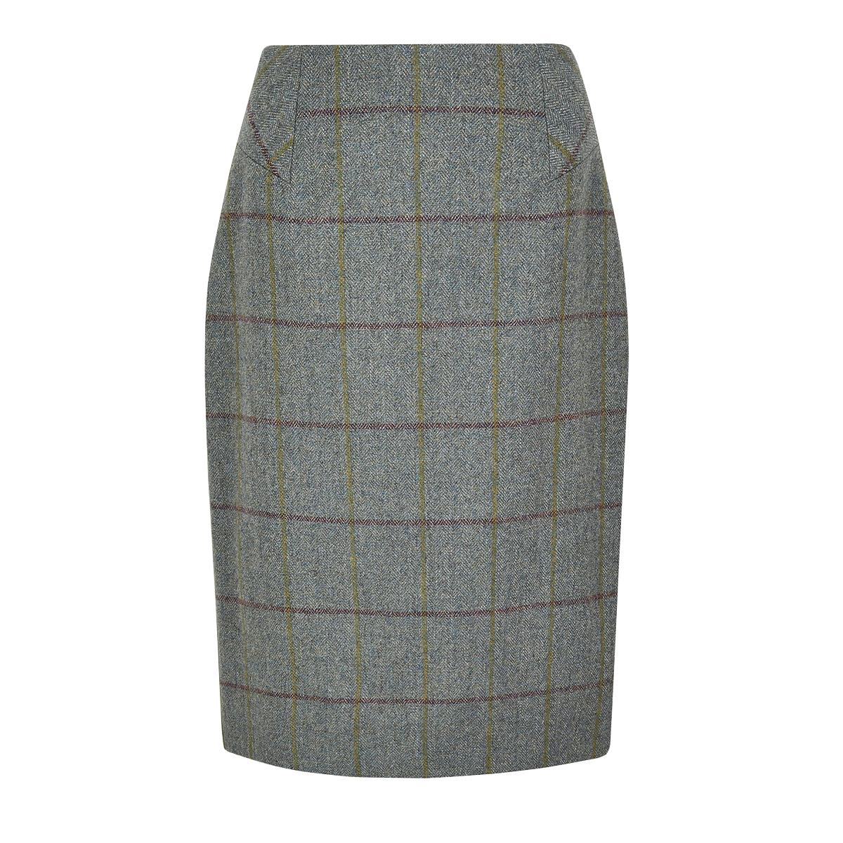 Dubarry-Fern-Sorrel-Tweed-Pencil-Knee-Length-Skirt
