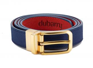 Dubarry – Foynes Leather Belt in Royal Blue/Poppy