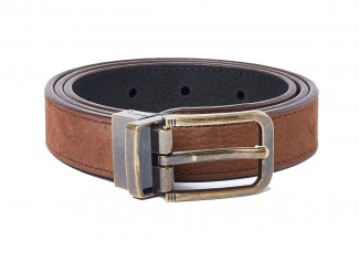 Dubarry – Foynes Leather Belt in Walnut/Black