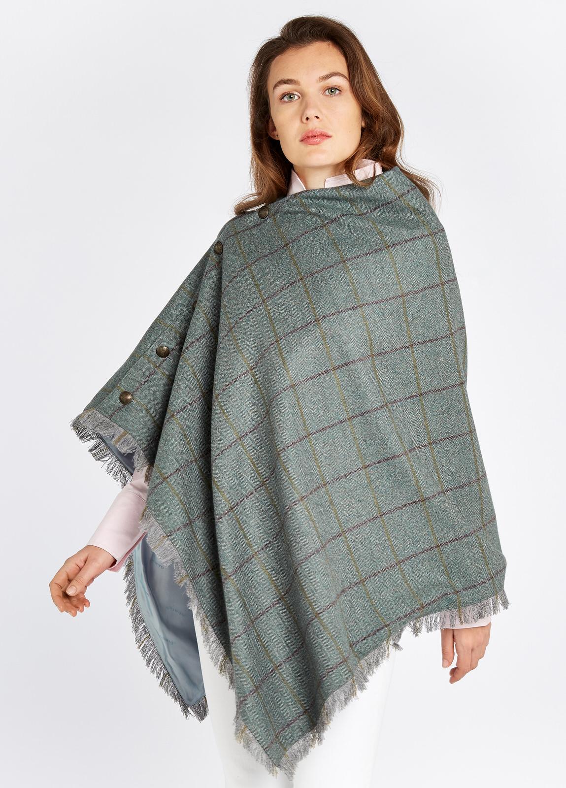 Dubarry Hazelwood Sorrel Tweed Poncho