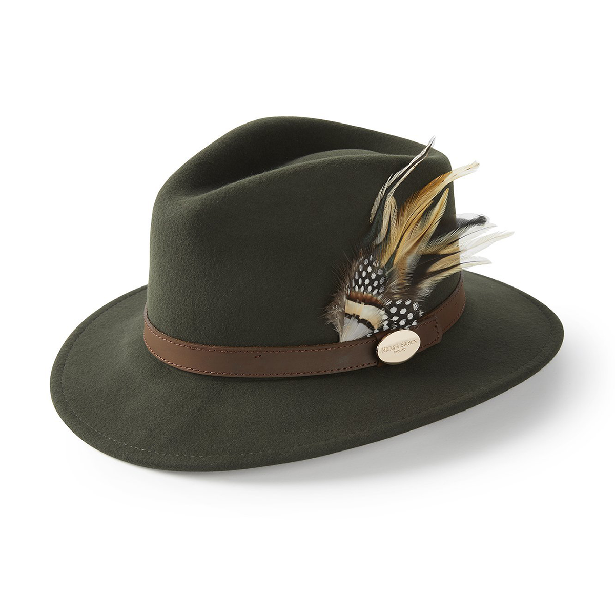 Hicks-&-Brown-The-Suffolk-Fedora-Olive-Green