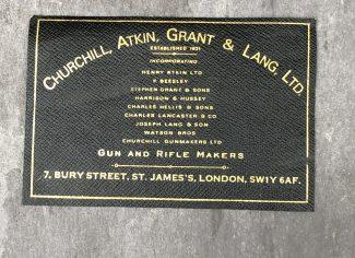 Churchill, Atkin, Grant & Lang Case Label