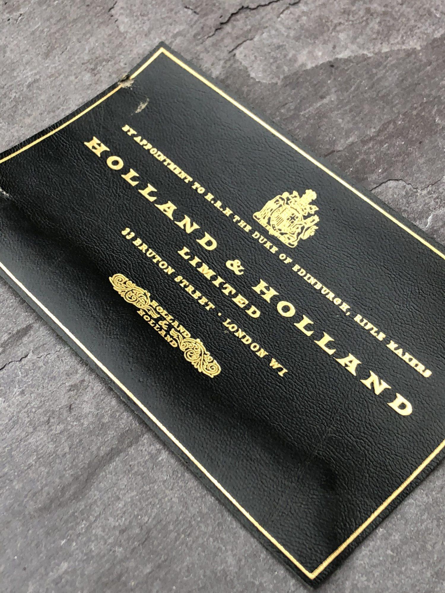 Holland & Holland Case Label
