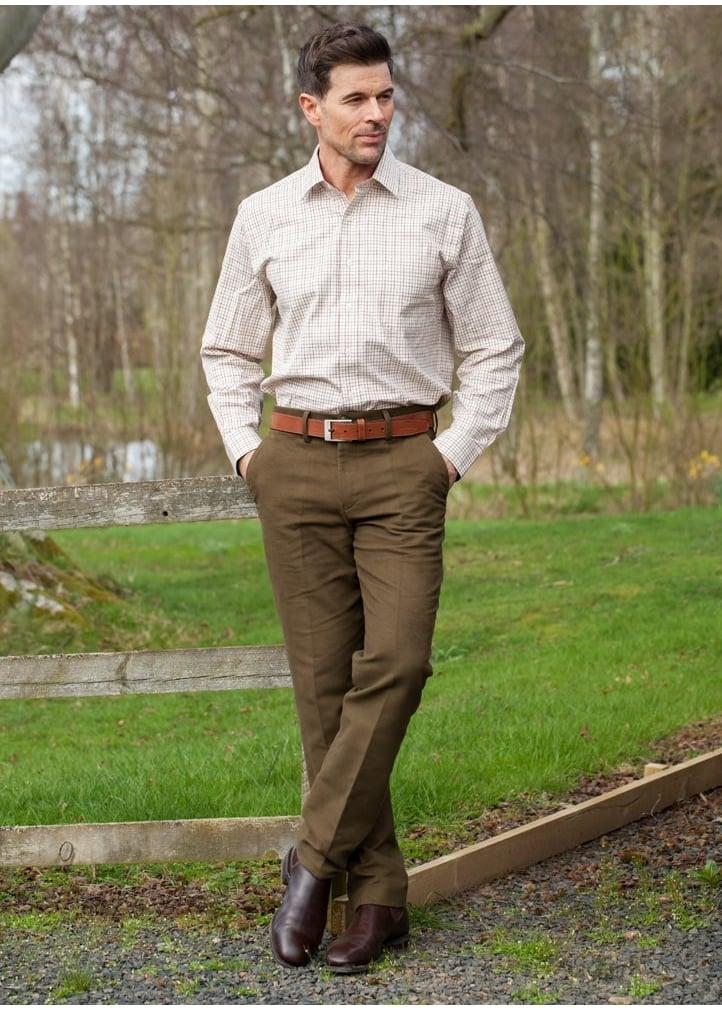 Laksen Broadland Moleskin Trousers – Bronze