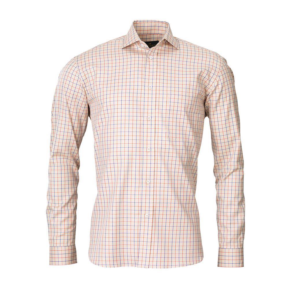 Laksen-grouse-shirt-sand-oxide-royal-blue