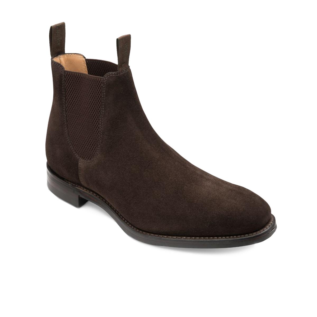 Loake-Chatsworth-Boot –Dark-Brown-Wax-Suede