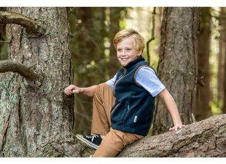 Schoffel Little Oakham Children's Fleece Gilet – Navy