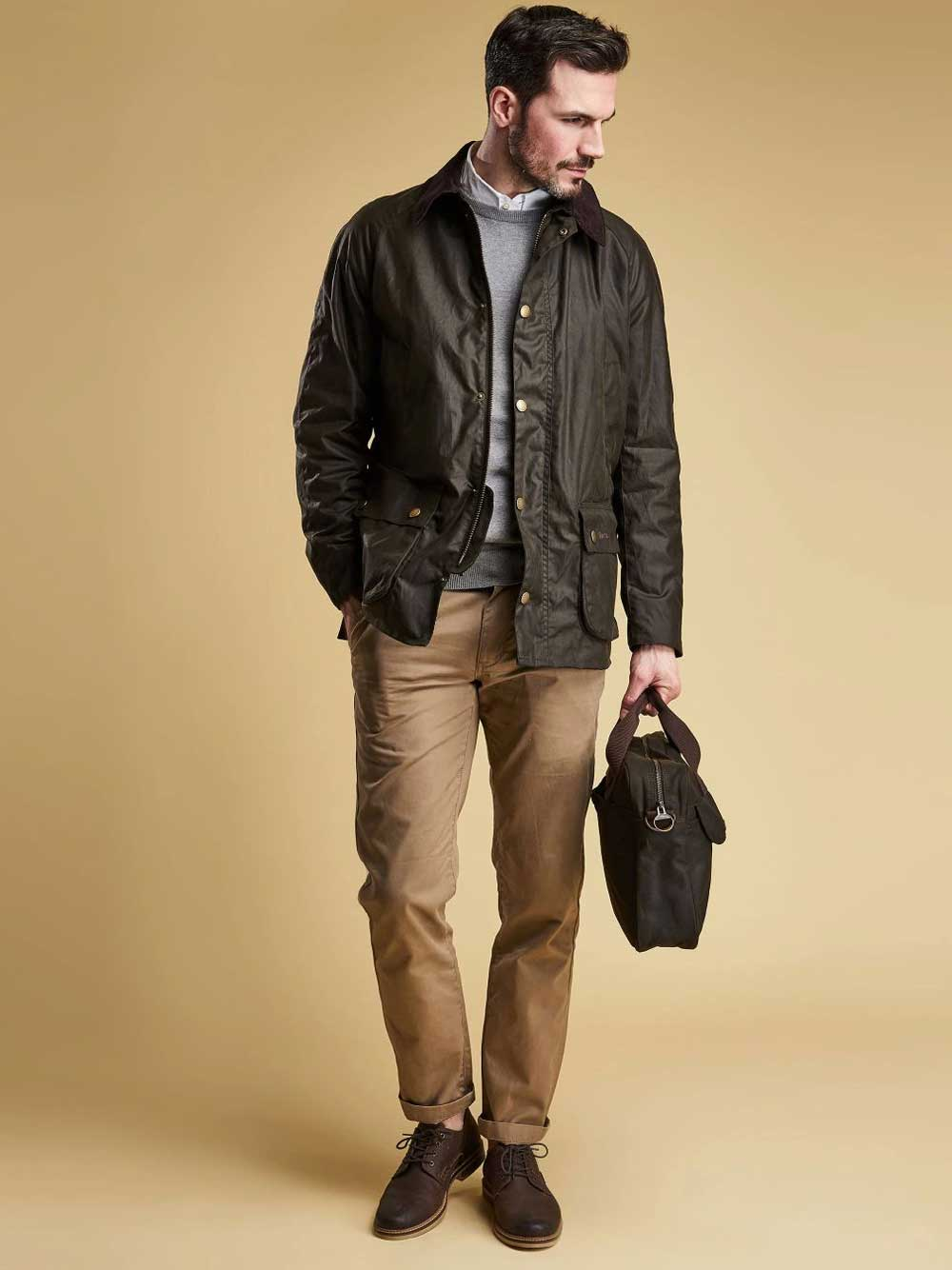 Barbour Ashby Wax Jacket – Olive