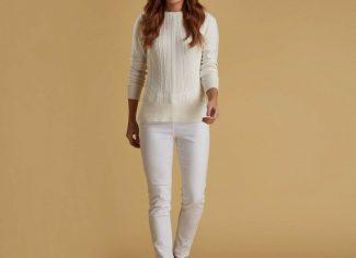 Barbour Hampton Knit – Off-White