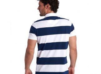 Barbour Harren Stripe Polo – Regal Blue