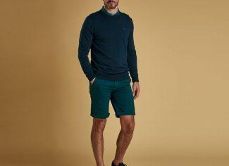 Barbour Light Cotton Crew Neck Sweater – Spruce