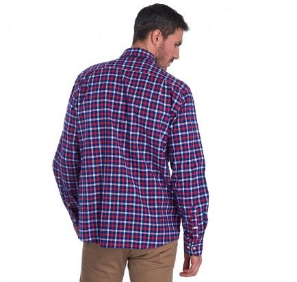 Barbour Linen Mix 3 Tailored Shirt – Navy