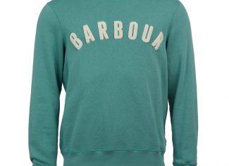 Barbour Prep Logo Crew Sweatshirt – Nevada Green