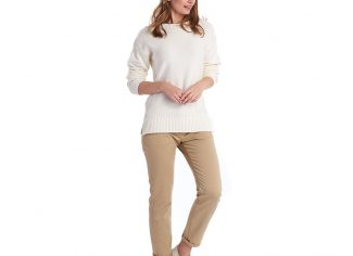 Barbour Sailboat Knit Jumper – Off-White