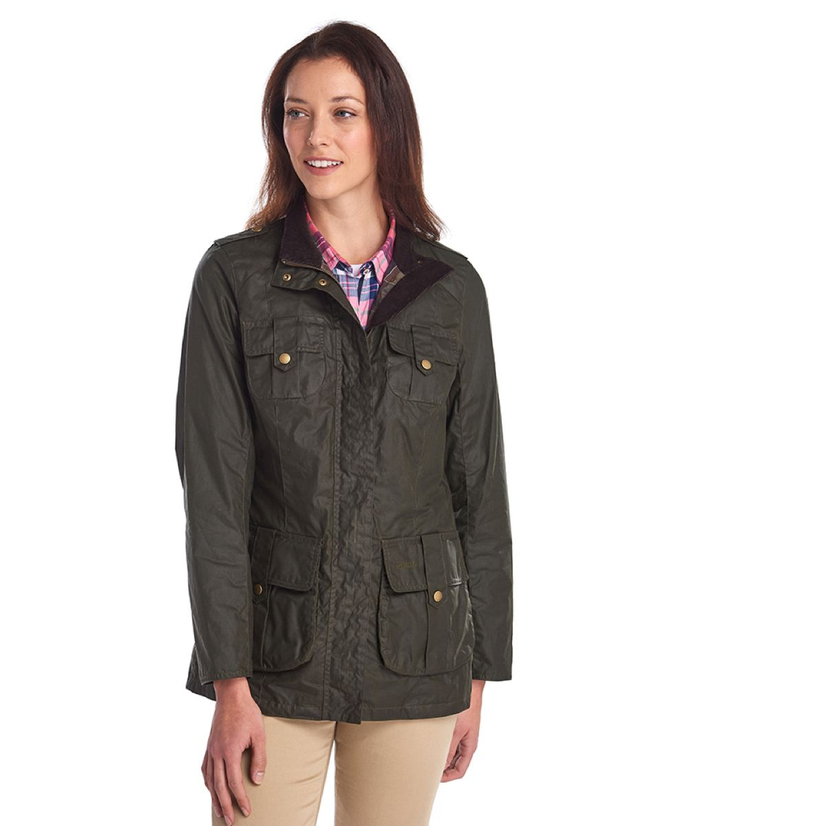 Barbour Defence Lightweight Wax Jacket – Olive/ Classic