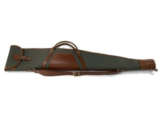 Croots Rosedale Canvas & Leather Rifle Slip – Loden Green/Tan