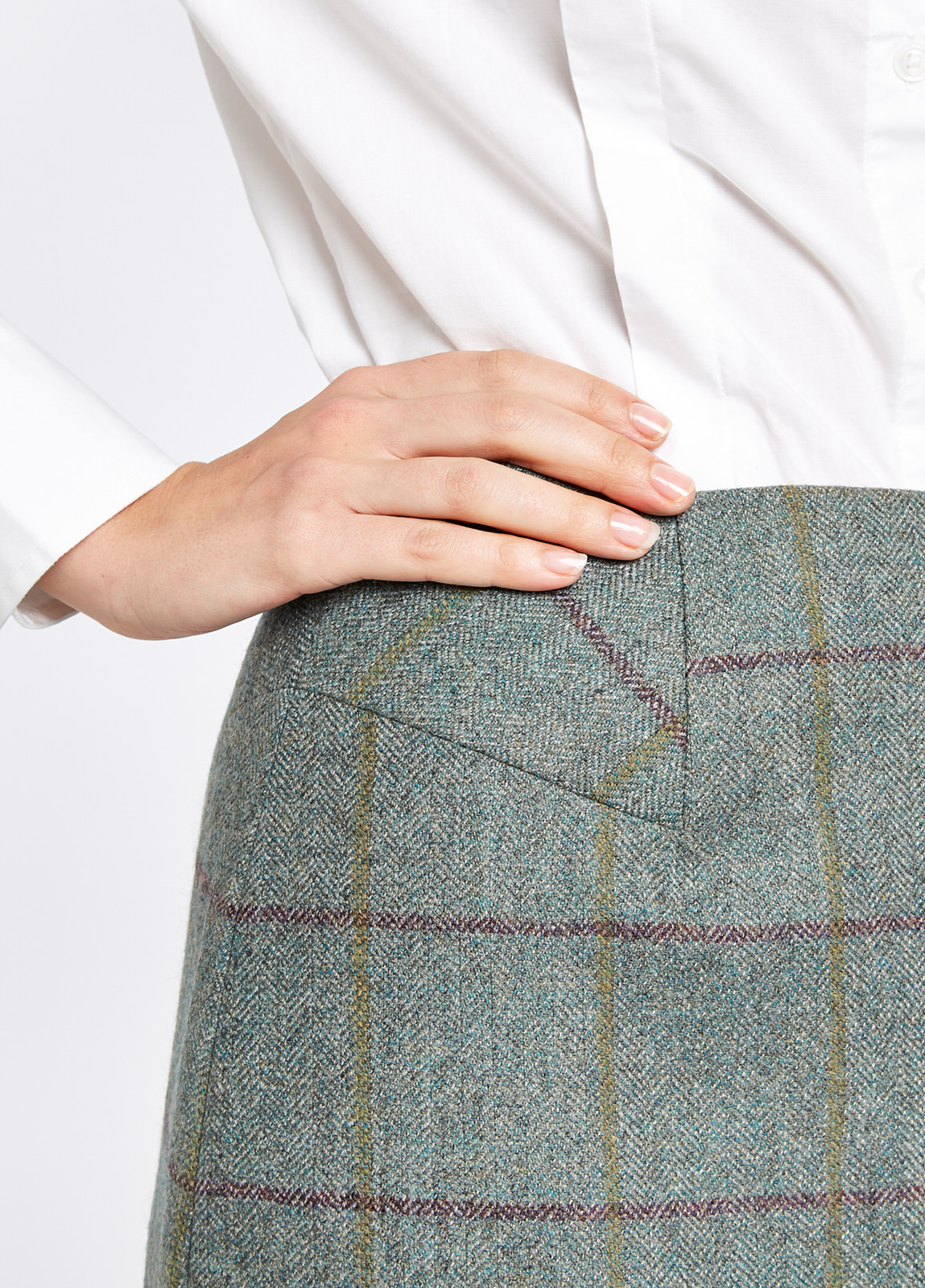 Dubarry Fern Sorrel Tweed Pencil Knee Length Skirt