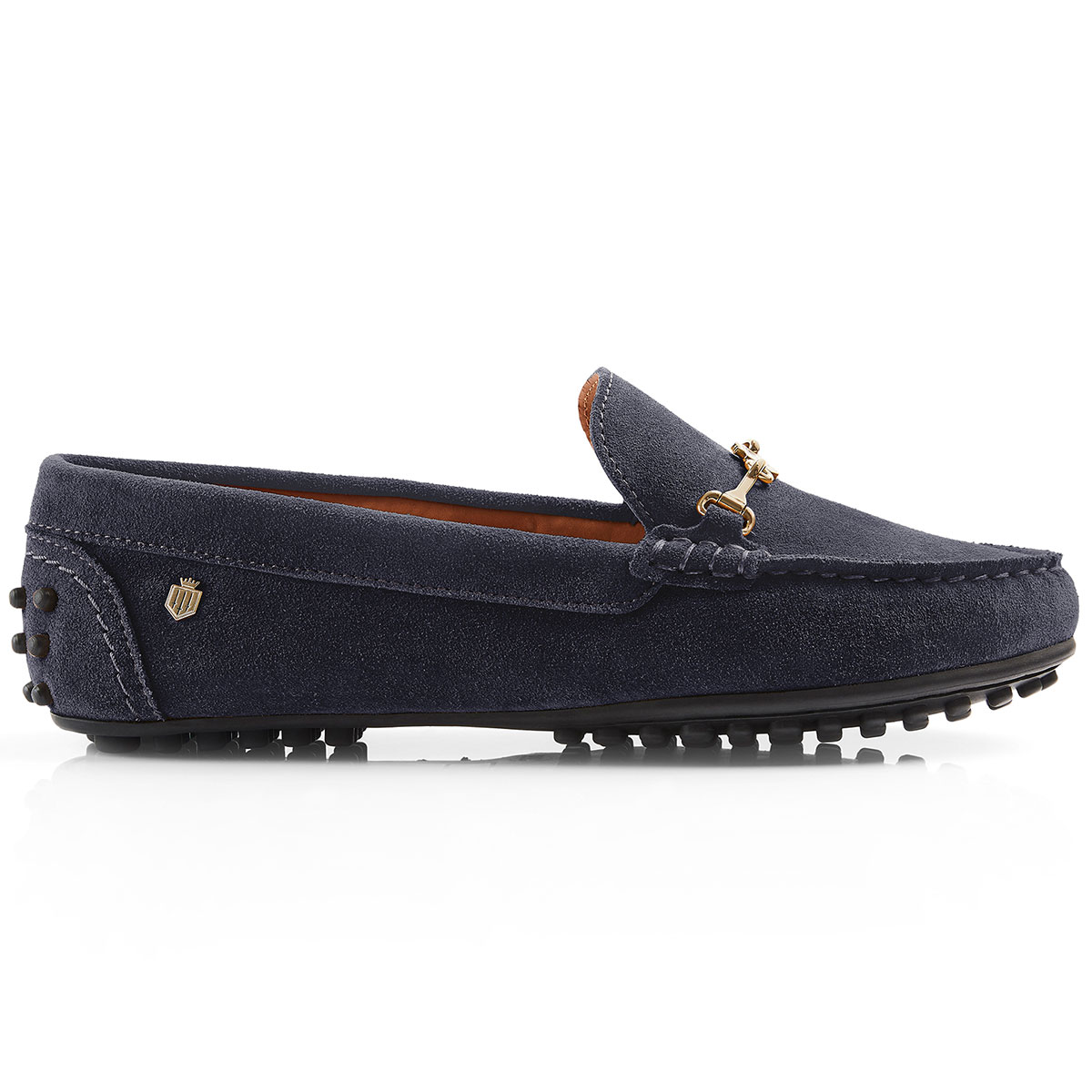 Fairfax & Favor – The Trinity Ladies Loafer – Navy Suede