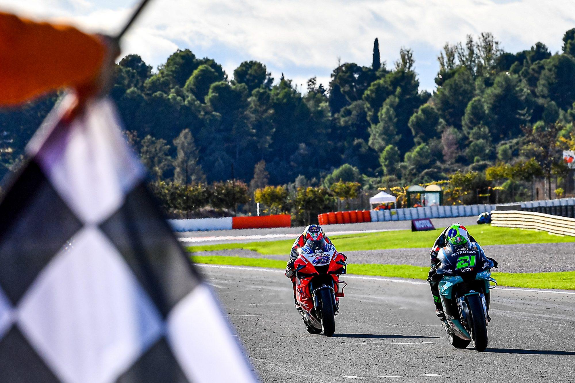 Morbidelli and Miller stage a last lap thriller, Mir crowned MotoGP™ World Champion