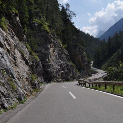 Austria, Bschlaber Landstraße Hahntennjoch Pass