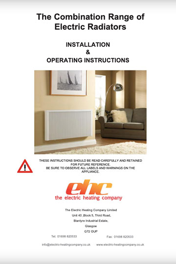 Electric Combination Radiator Manual