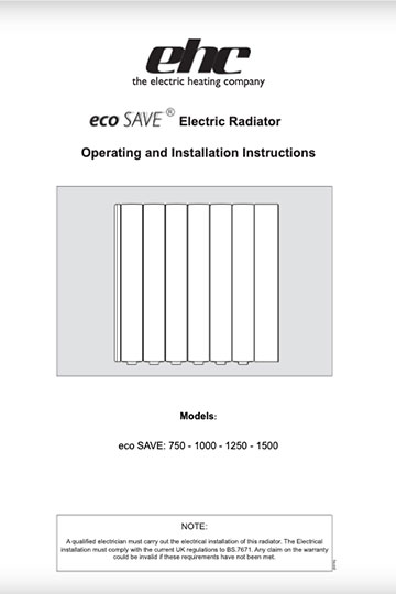 ecoSAVE Electric Heater Manual