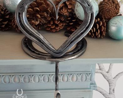 Horseshoe Heart Stocking Holder