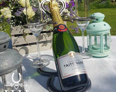 Tabletop Bottle & Glass Holder