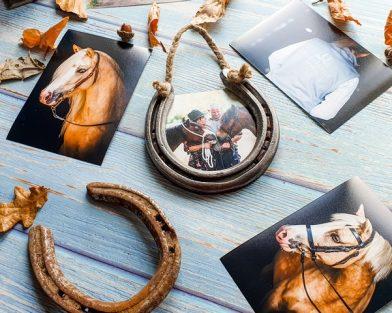 Hanging Horseshoe Photo Frame