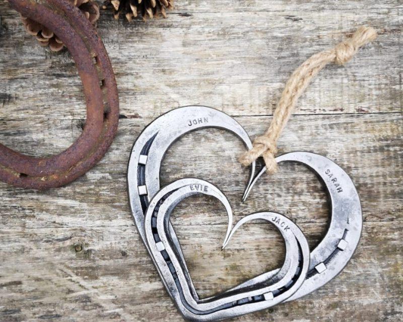 Family Horseshoe Hearts