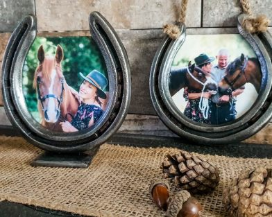 Standing Horseshoe Photo Frame