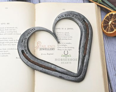 Braided Horsehair Horseshoe Heart